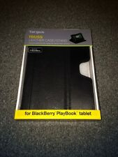 NEW Targus Truss Black LEATHER Folio Case Stand Blackberry Playbook Tablet 29.99