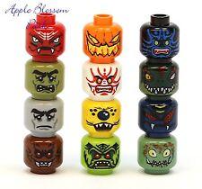 New 12 LEGO MINIFIG HEAD LOT Halloween Monster/Alien/Pumpkin/Troll/Devil/Zombie