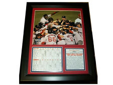 2004 Boston Red Sox World Series Champions 8x10 Photo Curse is Reversed Framed