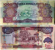 SOMALILAND  billet neuf 1000  SHILLINGS  HARGEYSA 2011