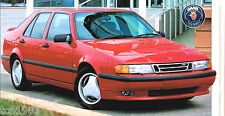 SAAB 9000 AERO SPEC SHEET / Brochure: 1993,1994,1995,1996,1997
