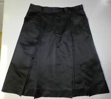 Dry-clean Only Knee-Length Solid 100% Silk Skirts for Women