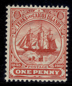 TURKS AND CAICOS ISLANDS EDVII SG111, 1d red, NH MINT. Cat £20. MULT CA WMK