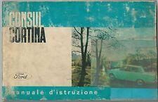 1962-64 FORD CONSUL CORTINA manuale uso manutenzione originale