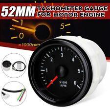 52mm LED 0-6000RPM (On dash) Electrical Tachometer Gauge For Diesel Motor Engine