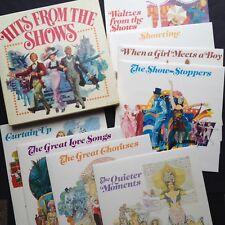 HITS FROM SHOWS Soundtrack 8-LP Boxset [Rare] Camelot Cabaret Evita Gypsy Kismet