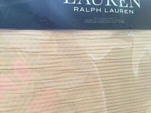 LAUREN Ralph Lauren Spencer Wheat Matelasse Full/Queen Coverlet New In Package