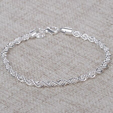 Damen Kette Armband Silber plattiert Armreif Armkette schmuck Geschenk Bracelet