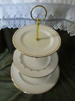 SUPERB MISMATCH DUCHESS/ROYAL DOULTON CHINA PLATED 3 TIER CAKE STAND ASCOT/RONDO