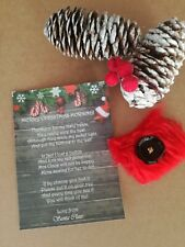 Santas lost button and poem,  Christmas props