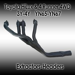 Toyota HiLux & 4Runner 4WD 3Y-4Y YN65 & YN67, 4cyl Petrol, Extractors/headers