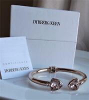 DYRBERG KERN DENMARK ROSE GOLD PLAT STAINLESS STEEL CRYSTAL BANGLE BRACELET NEW