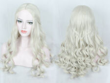 Anime Cosplay Wig for White Queen Long Curly Hair Thrones Daenerys Wig