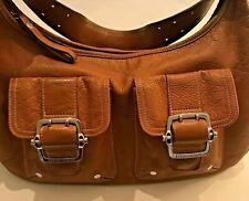 Auth LONGCHAMP Hobo Shoulder Bag HandBag Purse Multi Pocketed Brown Leather