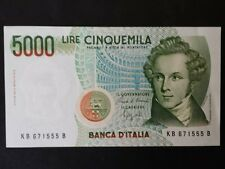 BANCONOTA LIRE 5000 BELLINI  SERIE D SUP QUASI FDS