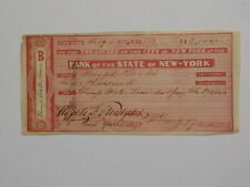 Antique Check 1844 Mayor Of New York Signature Paper Money VTG Old Currency NY N