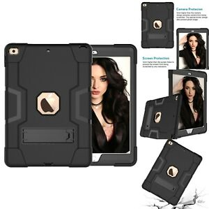 "For iPad Air 10.5"" 3rd Gen Heavy Duty Shockproof Stand Armor Case Cover Black"