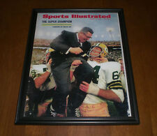 1968 PACKERS VINCE LOMBARDI SUPERBOWL CHAMPS FRAMED SPORTS ILLUSTRATED PRINT