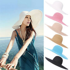 pieghevole e largo per le donne Cappello estivo da spiaggia Cappello da sole Cappello anti-UV da viaggio Pack Pack UPF 50