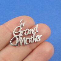 925 Sterling Silver Grandmother Charm - Grandmother Grandma Pendant Jewelry NEW