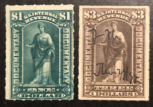 TDStamps: US Revenue Stamps Scott#R173 R174 Used