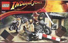 Lego Indiana Jones 7620 Motocicleta Chase, 100% Completo Con Manual.