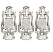 3 x PARAFFIN HURRICANE STORM LANTERN LIGHT LAMP OIL PARAFIN CAMPING NEW