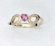 Pink Tourmaline Gold Ring, Handmade Gold Love ring