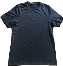 LULULEMON Mens Short Sleeve Tech Shirt size S Black Reflective EUC Gym Run Yoga