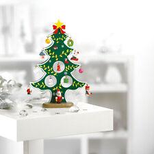 Klein Mini Tischplatte Christbaumschmuck Dekor Heim Weihnachten Künstlich Grün