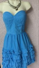 Robe Bustier Bleue NEW LOOK T 36