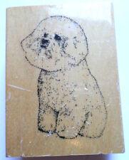 Stamp Gallery Bichon Frise Puppy Dog Wooden Rubber Stamp