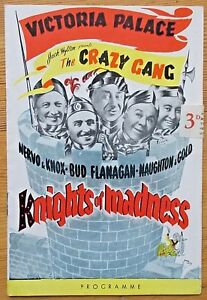 Knights of Madness Crazy Gang programme Victoria Palace (3d price sticker)