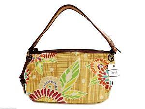 Fossil Cabo Floral Top Zip Shoulder Bag Handbag + Logo Key Multicolor New! NWT