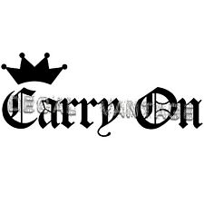 Carry On Crown Vinyl Sticker Decal JDM Race Drift - Choose Size & Color