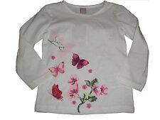 NEU Dopodopo tolles Langarm Shirt Gr. 92 weiß mit Schmetterlings Motiven !!