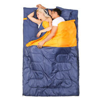 2-Person Double Detachable Sleeping Bag for Outdoor Camping Hiking Washable New