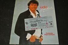 UDO JÜRGENS Udo Hautnah / Tour-Programmheft 1984 28 Seiten inkl. Konzert-Ticket