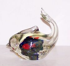 Wonderful AQUARIUM Art Glass FISH/WHALE Paperweight