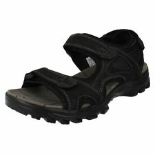 Sandali con cinturino nero casual per il mare da uomo