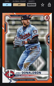 Topps MLB Bunt DIGITAL 21 Bowman Chrome Orange Base Super Rare Josh Donaldson