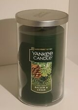 Yankee Candle Balsam & Cedar 12 Oz ~ 80 - 110 Burn Hrs. 🌲 Medium Pillar🕯