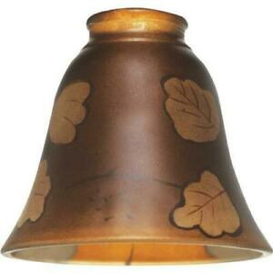 "(4)-Westinghouse 5-3/8"" Dia Brown Leaf Design Glass Pendant Light Shade 81265"