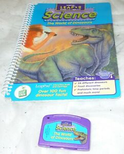 LeapFrog LeapPad SCIENCE The WORLD OF DINOSAURS Interactive Book + Cartridge
