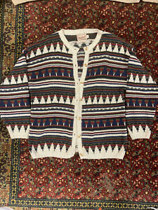 Vintage Woolrich Mens Southwestern Aztec Navajo Button  Made In USA Size M