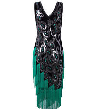 Peacock Style 1920's Flapper Dress Great Gatsby Costumes Evening Gowns Plus Size