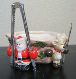 Christmas Around The World Nuts About Christmas Nut Bowl With Tools