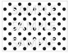 Black and White dots  Cake Wrap Image Cake Decorations 1/4 sheet