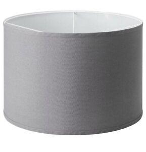 "New IKEA RULLAN Fabric Lamp Shade Grey 13"""
