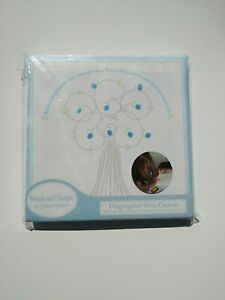 """Sweet And Simple By Child To Cherish Fingerprint Tree Canvas w Ink Pad 8"""" x 8"""""""